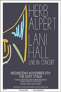 Raw Sugar Art Studio Herb Alpert/Tijuana Brass 2017 Kent Ohio Concert Poster