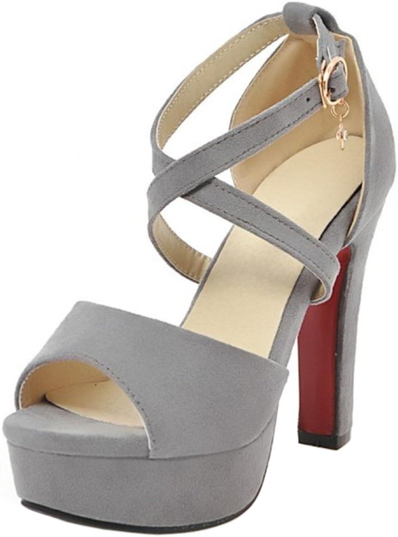 CarziCuzin Women Fashion Cross Strap Sandals Heels