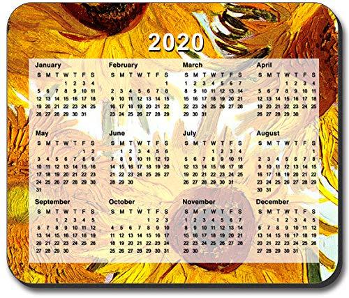 Art Plates Brand - Van Gogh - Sunflowers II Mouse Pad - with 2020 Calendar