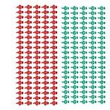 Baoblaze 100 Pezzi Ugello a Spruzzo Verde da 180 Gradi + 100 Pezzi a Getto a Ventaglio Micro Spruzzatore a 360 Gradi Spray Idroponico Rosso