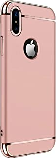 iPhone Xs Max case, Electroplating 3 in 1 Shockproof Protector Cover for iPhone Xs Max (Rose Gold)