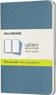 モレスキン ノート カイエ ジャーナル3冊セット 無地 ポケットサイズ ブリスクブルー CH013B44