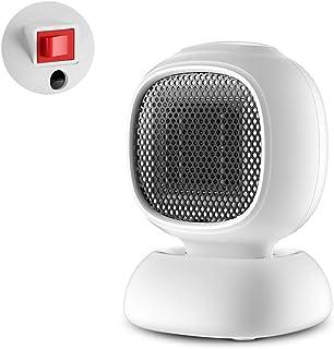 LTLJX Calefactor Cerámico Silence, 2 Modos Termostato Regulable Sensor Antivuelco Protección Sobrecalentamiento,Desktop