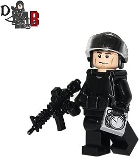 Custom The Walking Dead Glenn Rhee with riot police gear and custom weapon.