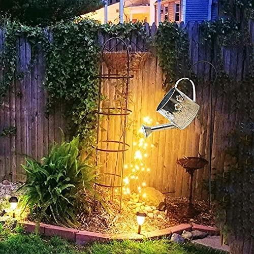 SKYWPOJU Luces de jardín de Ducha de Estrella, Luces de riego de regadera para Exteriores, Luces LED solares, linternas, Luces de Estrella, decoración de luz de jardín (Size : B)
