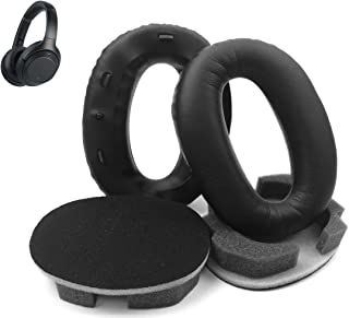Sony MDR-1000X Earpads, Protein Leather Replacement Earpads Ear Cushions Compatible with Sony Noise Cancelling Headphones MDR-1000X / WH1000XM2(Black)