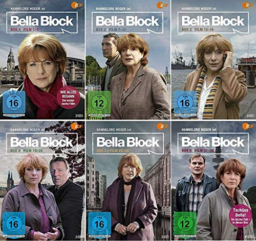 Bella Block 1-6 / Box 1+2+3+4+5+6 / Die komplette Serie / Fall 1-38 Alle Folgen [DVD Set]