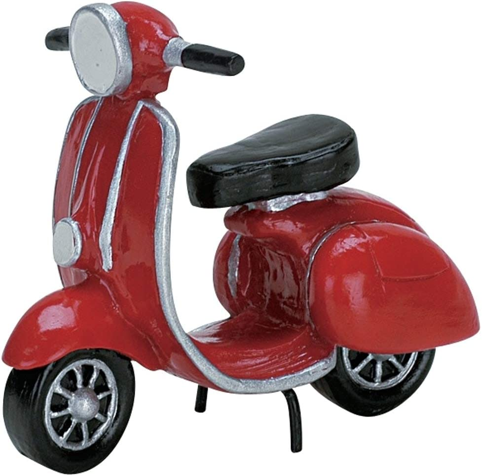Lemax 2007 Red Moped Christmas Village Accessory
