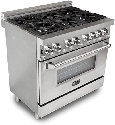 ZLINE 36 in. Professional 4.6 cu. ft. 6 Gas Burner/Electric Oven