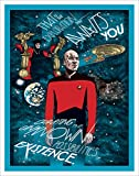 Culturenik Star Trek The Next Generation All Good Things Episode (Erin Gallagher Charting Unknown Possiblities) Sci-Fi TV Television Show Print (Unframed 11x14 Poster)