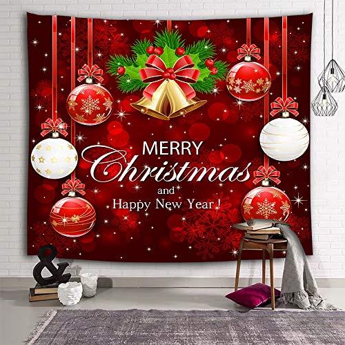 N / A Árbol de Navidad Chimenea impresión Tapiz Colgante d
