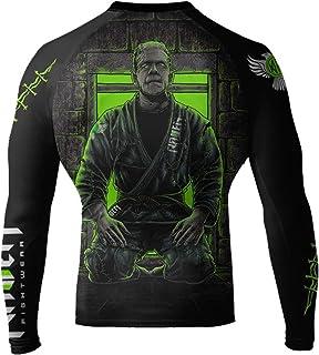 Raven Fightwear Men's BJJ Horror Frankenstein's Monster MMA Rash Guard