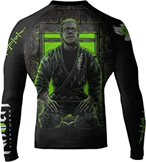 Raven Fightwear Men's BJJ Horror Frankenstein's Monster MMA Rash Guard