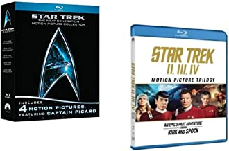 STAR TREK 7-MOVIE MOTION PICTURE BLU-RAY COLLECTION FEATURING CAPTAIN KIRK, SPOCK & CAPTAIN PICARD (WRATH OF KHAN/THE SEARCH FOR SPOCK/THE VOYAGE HOME/FIRST CONTACT/GENERATION/INSURRECTION/NEMESIS)