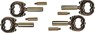 Dysmio Lighting Socket Keys Brass Finish, Pack of 4