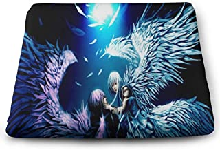Yunshm Memory Foam Chair Pads Square Cushion Booster Cushion Soft for Office Home Or Car Sitting Two Angels Love Anime Wallpaper Customized