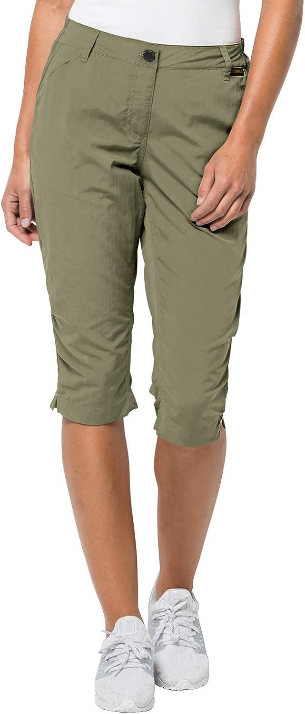 Jack Wolfskin Women's Kalahari 3 4 Pants Travel Pants with Uv Predection