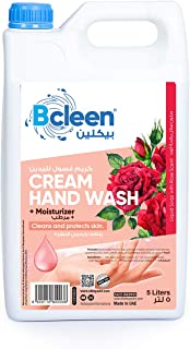 Bcleen Hand Wash Soap Liquid Refill with moisturizing Rose Scent, 5 litres