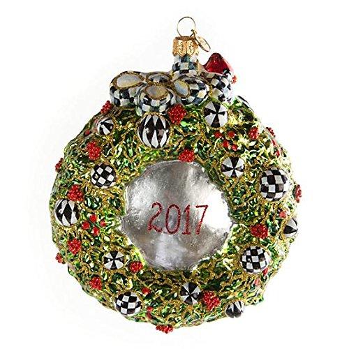 MacKenzie-Childs Glass Annual Christmas Wreath Ornament, 2017