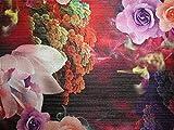 Brokatstoff mit Digitaldruck, Lurex, Webbrokat, Rot & Pink