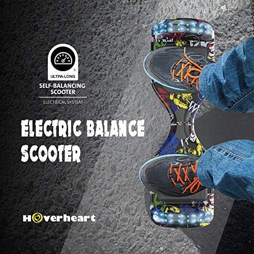GEARSTONE 6.5 Pouces Overboard Gyropode Scooter électrique Auto-équilibre Scooter E Scooter pour Enfants et Adolescents (Hip-Hip)