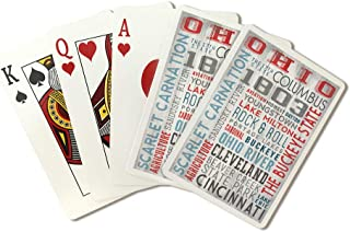 Ohio - The Buckeye State - Rustic Typography (Playing Card Deck - 52 Card Poker Size with Jokers)