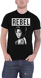 Amy Winehouse T Shirt Rebel Logo Back To ブラック 新しい 公式 メンズ