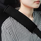 GAMPRO Car Seat Belt Pad Cover kit, 2-Pack Black Cotton Soft Car Safety