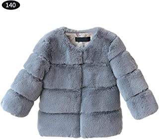 b7d7edeaf Abrigos de piel sintética para bebés y niñas, chaqueta cálida para niños,  otoño e