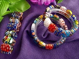 Ecloud Shop 3 X Fashion Millefiori Lampwork Glass Bead Bangles beautiful Bracelets 1813mm