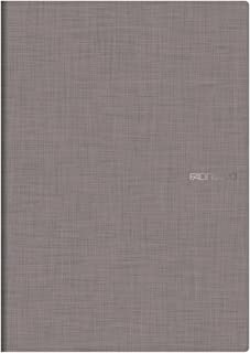 Fabriano A4 Squared Stapled Notebook - Slate Grey (Pack Of 5)