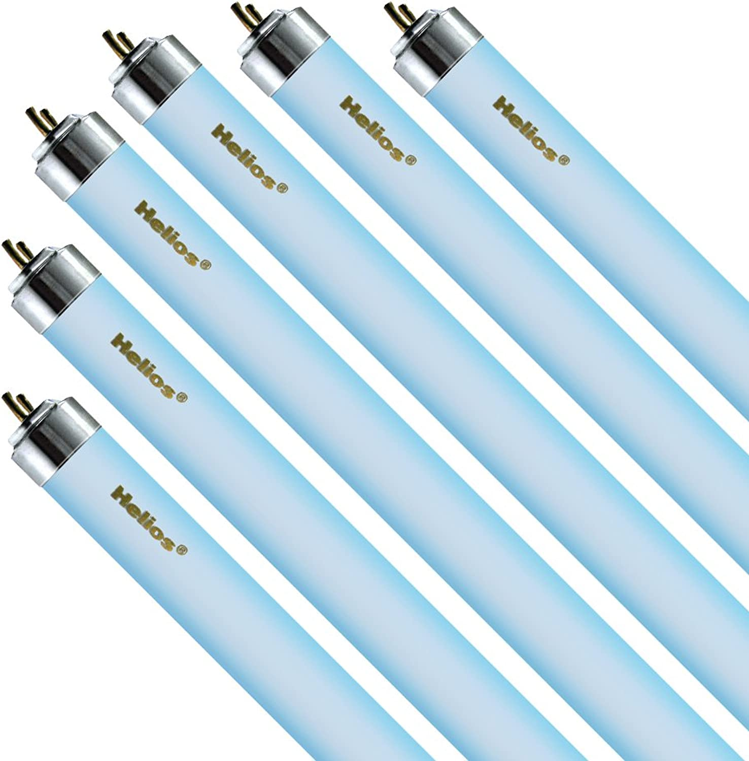 Helios 30watt T6 Actinic O3 Light for Aquarium, 36Inch, bluee, 6Pack