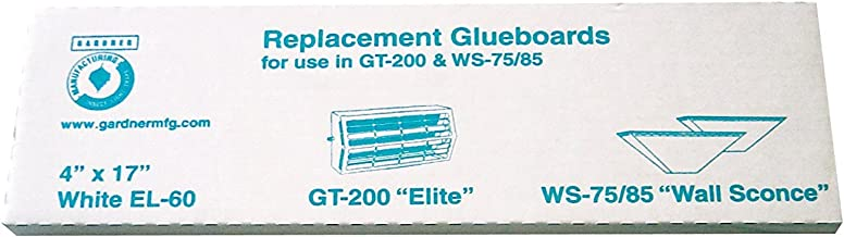 Gardner Wall Sconce WS85 Fly Insect Replacement Glue Boards EL-60 - 1 Pack of 10