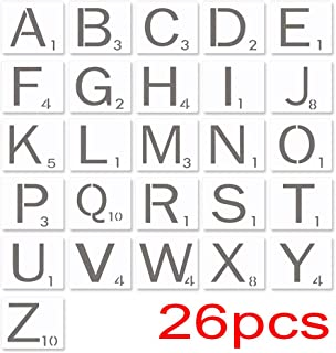 FOGAWA 5 Inch Scrabble Letters Stencil Wall Decor Stencils Tile Letters Stencil for Painting Signs on Wood Laser Cut Paint...