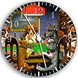 Dogs Playing Poker Frameless Borderless Wall Clock Z40 Nice for Gift or Room Wall Decor