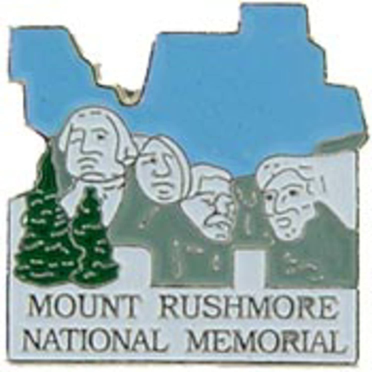 EagleEmblems P09057 PIN-NAT.Park,MT.Rushmore (1'')