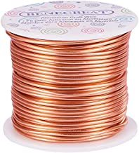 BENECREAT 12 17 18 Gauge Aluminum Wire (12 Gauge,100FT) Anodized Jewelry Craft Making Beading Floral Colored Aluminum Craft Wire - Copper