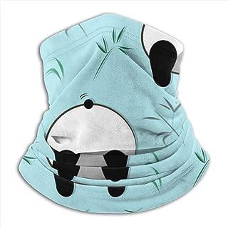 Hujingweijing9 Funny Panda Pattern White Black Bear Headband Face Mask Bandana Head Wrap Scarf Neck Warmer Headwear Balaclava for Sports