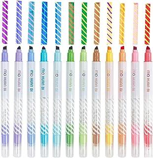 Magic Highlighter Marker Pens, 12 Color Changing Highlighter Makers, Highlighter Assorted Colors Rainbow Pens for Bullet J...