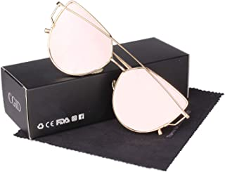 Cgid Modern Trendy Mirror Polarized Cat Eye Sunglasses Polarised UV400