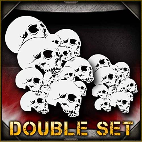 Skull Background 9 AirSick Airbrush Stencil Template