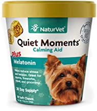 NaturVet Quiet Moments Calming Aid Dog Supplement – Helps Promote Relaxation, Reduce Stress, Storm Anxiety, Motion Sicknes...
