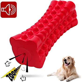 VANFINE Dog Squeaky Toys Almost Indestructible Tough Durable Dog Toys Dog chew Toys for Large Dogs Aggressive chewers Stick Toys Puppy Chew Toys with Non-Toxic Natural Rubber