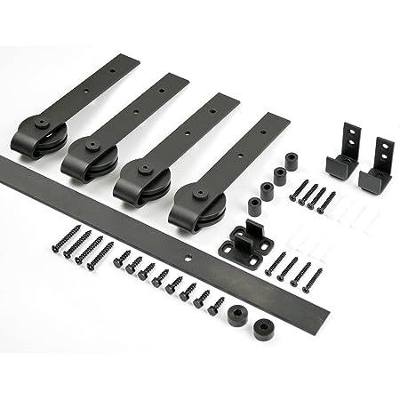 aihom 1220 mm Mini Schiebet/üren Schrank Double Scheunentor Hardware f/ür 2
