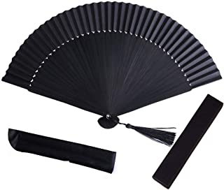 Abanicos de Mano Boda,Plegable Ventilador Colorear Ventiladores de Bambú Seda con Borla para Decoración Pared Regalo Boda Favor Invitados