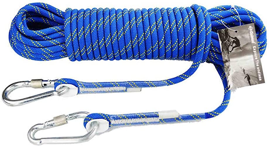 FLYSXP Corde d'escalade Descente en Rappel Longueur de Camping Escalade Escalade Conduite sur Route Bleu résistant à la plongée Corde d'escalade (Taille   20m)