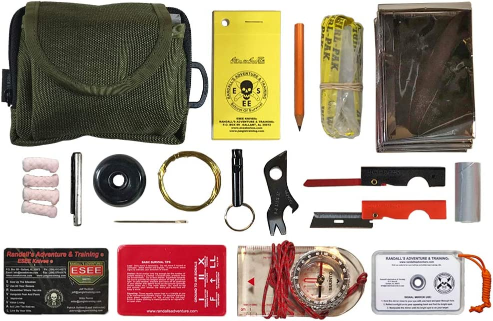 Esee Knives Pocket Survival Kit with Size: Drab 5 Max 68% OFF Olive Pouch 2021 model