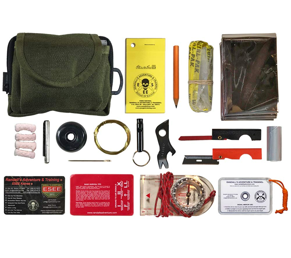 "3.75/"" x 2.25/"" x 0.75/"" ESEE KIT-CONTAINER Izula Gear Survival Kit Tin"