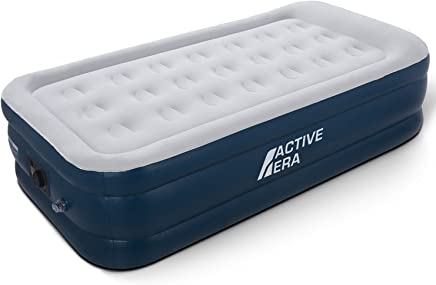 Active Era Premium Single Size Air Bed with a Built-in Electric Pump and Pillow