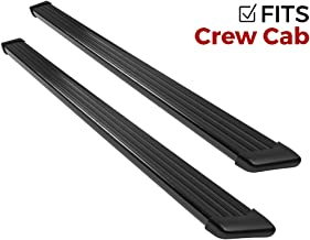 Ionic 61 Series Black Running Boards (Fits) 2017-2018 Ford F250 F350 Super Duty Crew Cab